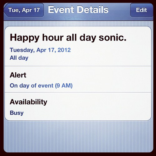 Yes, I set a reminder. #sonic #happyhour #sweetteaplease