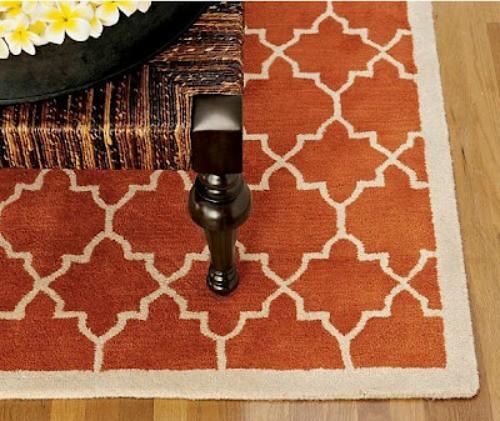 Creategirl the new pottery barn scroll tile rug - Discontinued pottery barn rugs ...