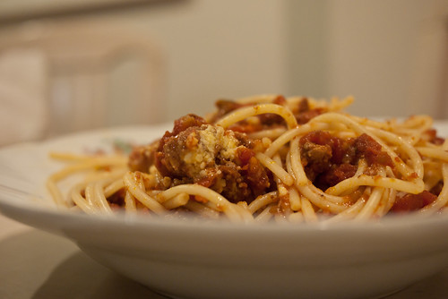 Spaghetti bolognese from Pelligrini's