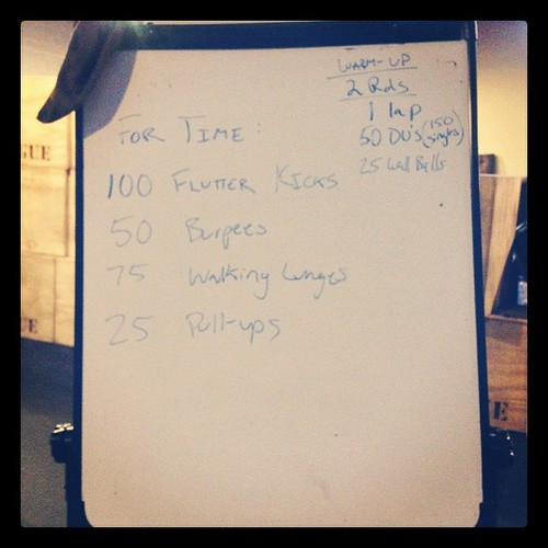 This #wod didn't look so bad on the board... once I got stared it was hell.