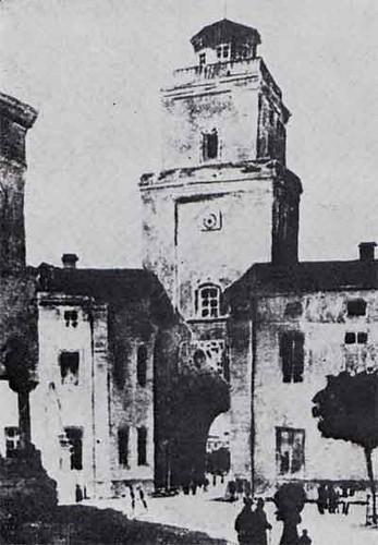 Turnul Coltei vedere din curtea spitalului 1870