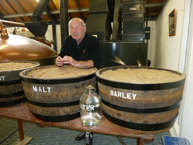 Tour Guide at Arran Distillery, Scotland