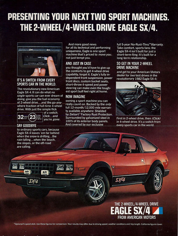 1982 AMC Eagle SX/4 ad