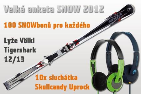 Velká čtenářská anketa SNOW 2012