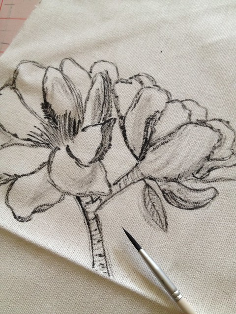 5 - Botanic Sketch Tote Bag Tutorial