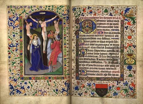 003-Cristo en la cruz-folio 30 verso-Heures d'Isabeau de Roubaix- Bibliothèque numérique de Roubaix  MS 6