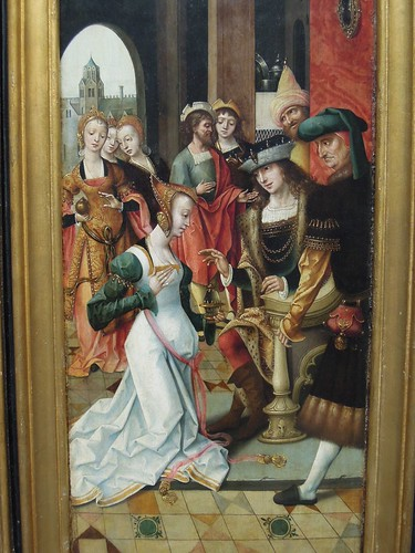 Triptych with the adoration of the Magi and old testament scenes, master of the Groote adoration (1516-1519), fragment