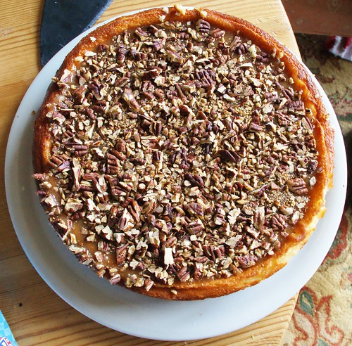 Caramel pecan cheesecake by PhylB