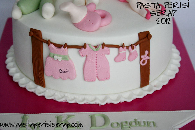 baby shower pastası