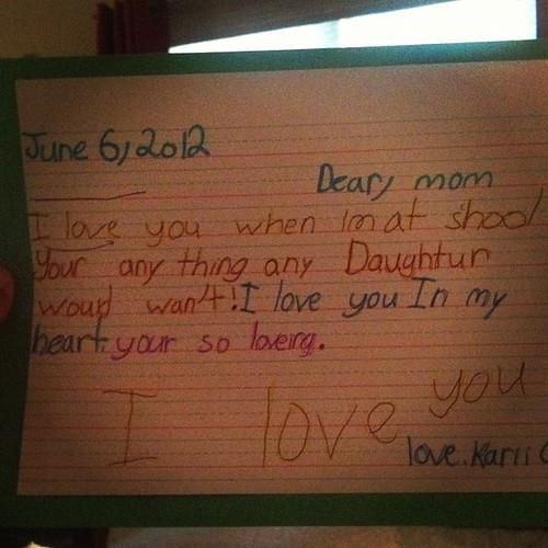 My daughter is too sweet!
