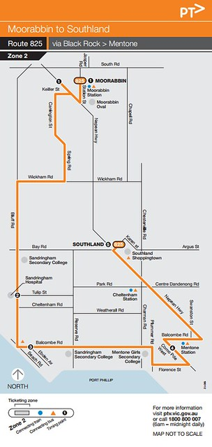 Bus 825 map