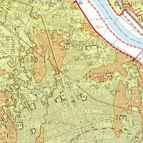 葛飾区鎌倉の地形