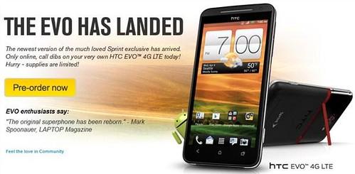 Sprint HTC EVO 4G LTE landed