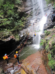 Abseiling at Wentworth Falls