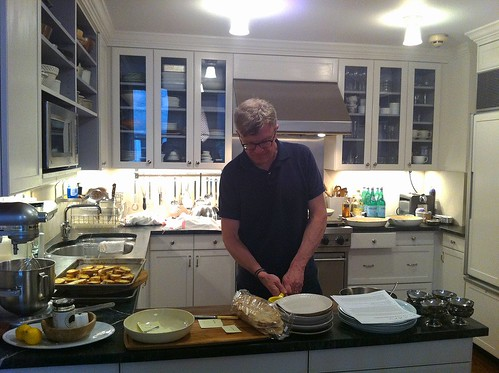 Tad working on his dish