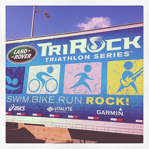 Swim bike run rock!