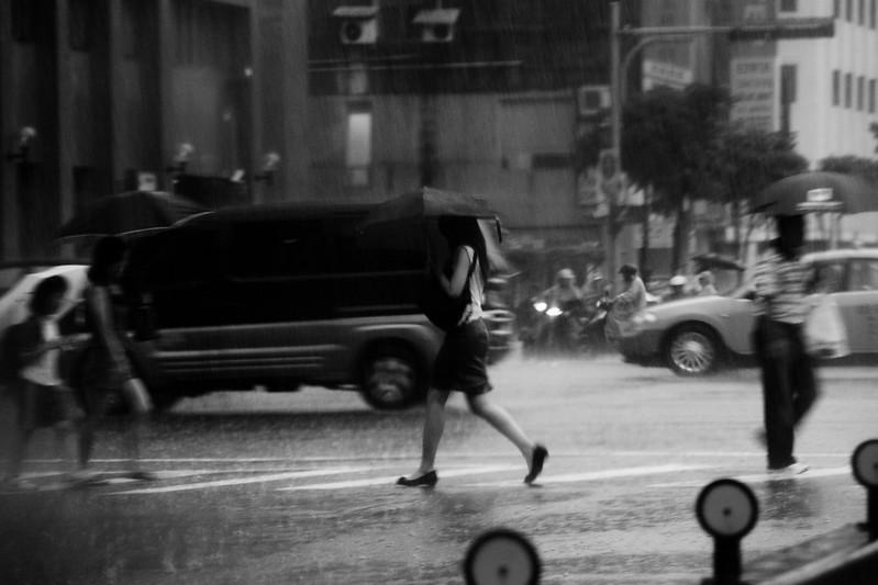 [street] in this raining day