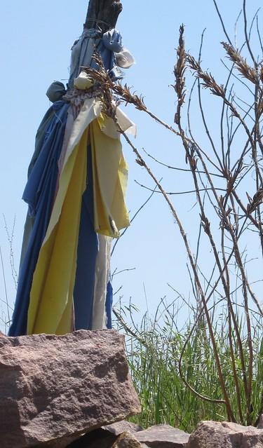 Prayer Flags Tied to Tree