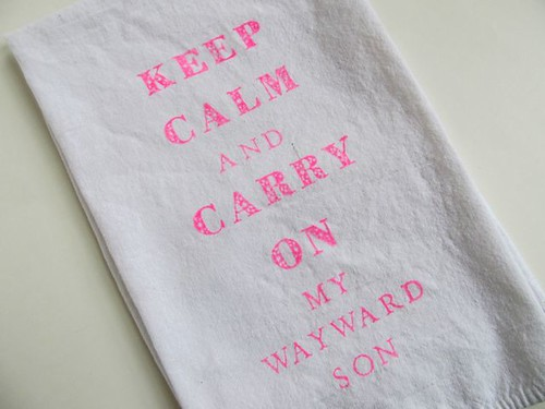 Supernatural Keep Calm Tea Towel