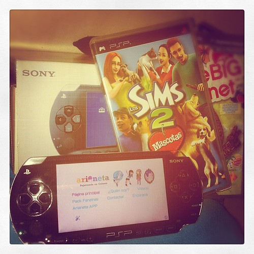 @ Arianeta gave me his old PSP! # Soyfeliz