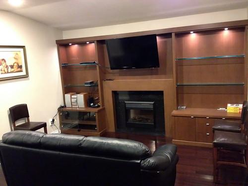 ESL student living room