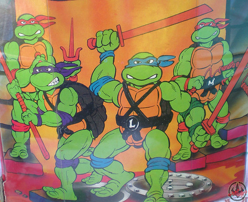 "Tara Toy Corp. :: ""TEENAGE MUTANT NINJA TURTLES"" - COLLECTORS CASE iv (( 1988 ))"