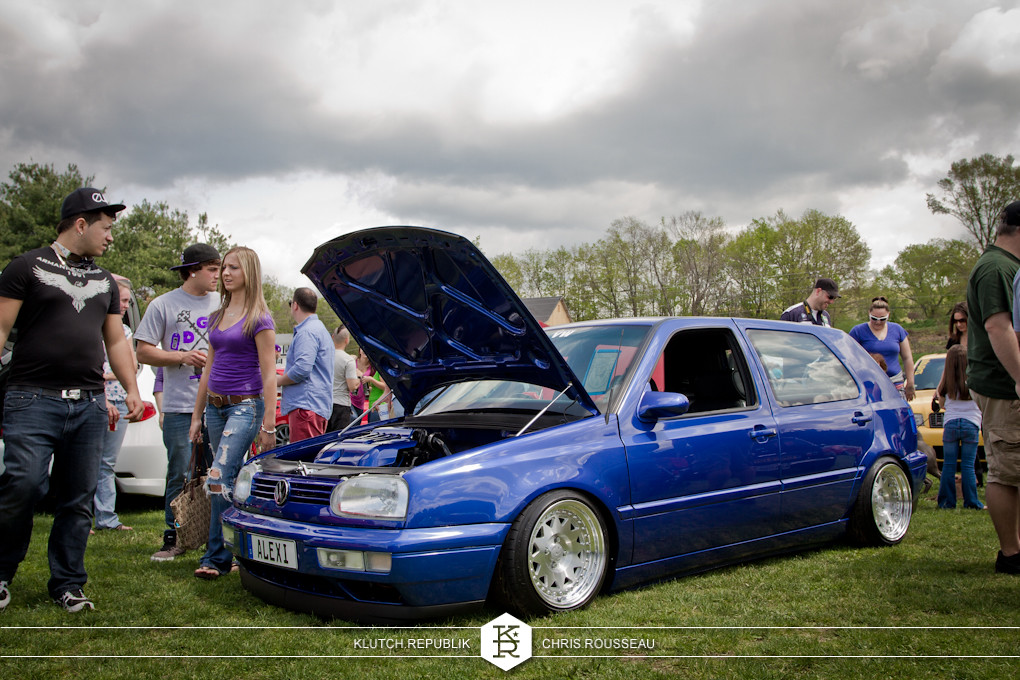 blue mk3 vw golf low fitted at staggered 2012