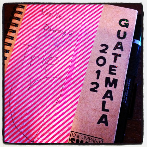 N1's journal from her Guatelmala trip.