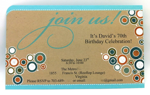 adding to a pre-printed invitation