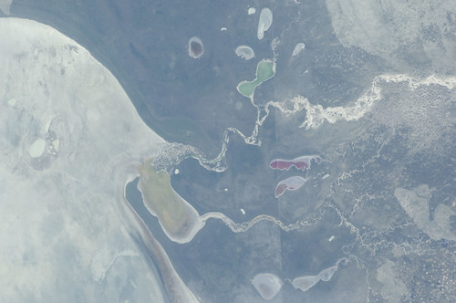 Etosha Pan, Namibia (NASA, International Space Station, 12/30/11)