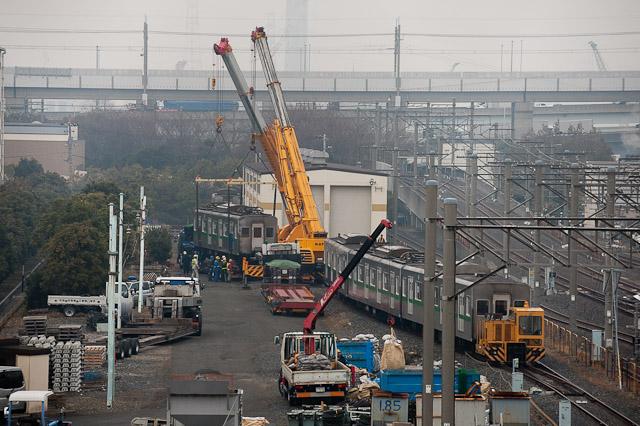 東京メトロ千代田線 6000系 6123F 搬出