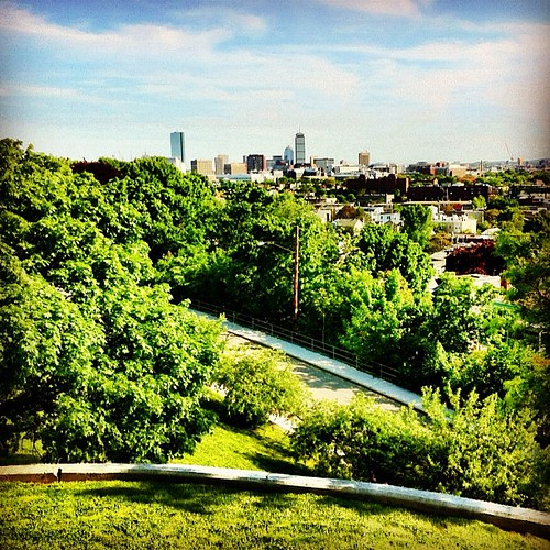Boston from Prospect Hill Monument, Somerville, MA by BradKellyPhoto