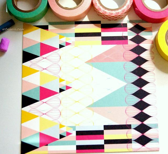 coloe, nastri adesivi giapponesi e illustrazioni di design