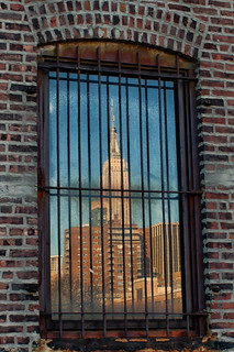 empire state building reflected_