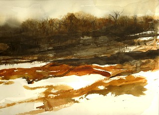 Winter Woods Watercolor