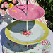 Pink and Yellow Provence Rose Cake Stand