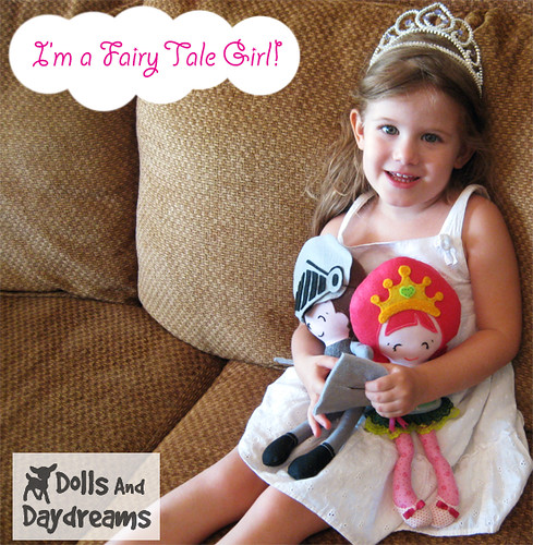 fairy tale princess doll soft toy sewing pattern pdf