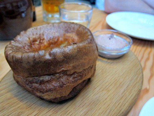 Yorkshire pudding with whipped chicken livers