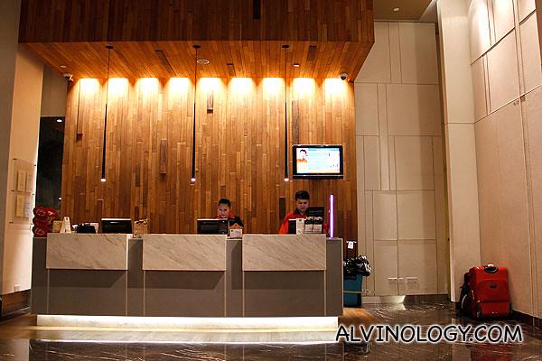 The lobby of Ibis Novena