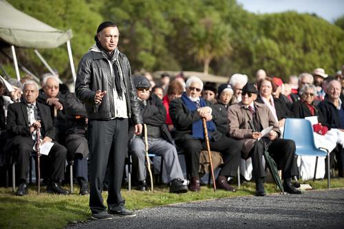 The Memorial Day Service pōwhiri lead by Tangata Whenua from Atiawa ki Whakarongotai, Raukawa and Toa Rangatira