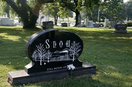 Hank Snow gravestone