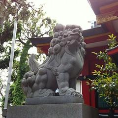 狛犬探訪 久が原西部八幡神社 子連れでない
