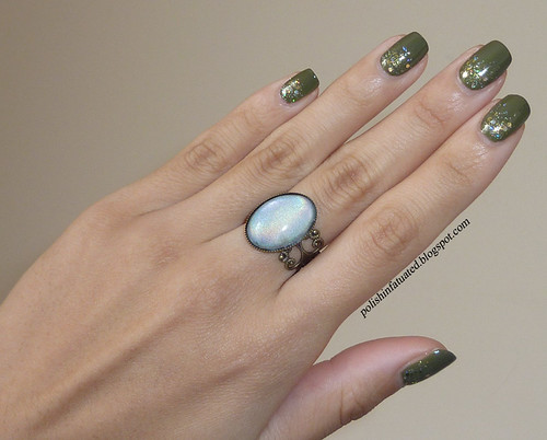 army green and glitter with ring1