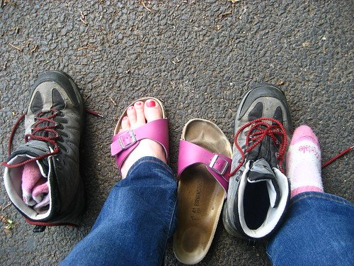 Changing footwear
