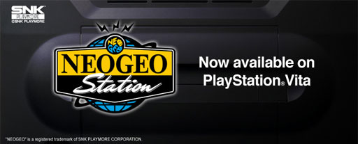 NEOGEO available on PlayStation Vita