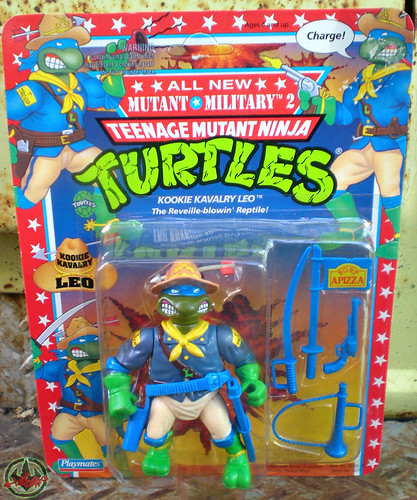 """MUTANT MILITARY 2"" TEENAGE MUTANT NINJA TURTLES ::  KOOKIE KAVALRY LEO i (( 1992 ))"