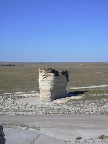A lone spire at Monument Rocks National Natural Landmark, Kansas