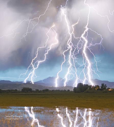 Massive Lightning Storm Striking Longs Peak Foothills 4C