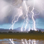 Massive Lightning Storm Striking Longs Peak Foothills 4C