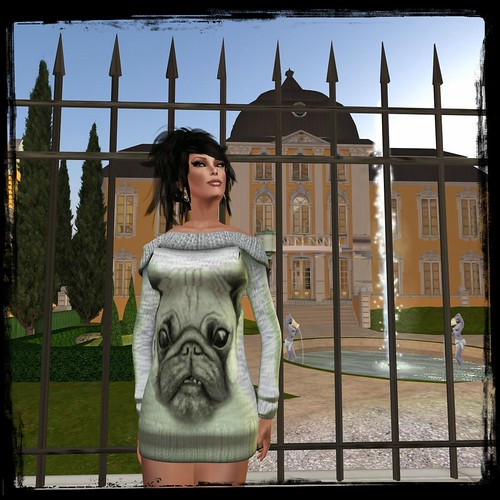 Glitterati by Sapphire - Pug - Off Shoulder Dress, 60 lindens by Cherokeeh Asteria